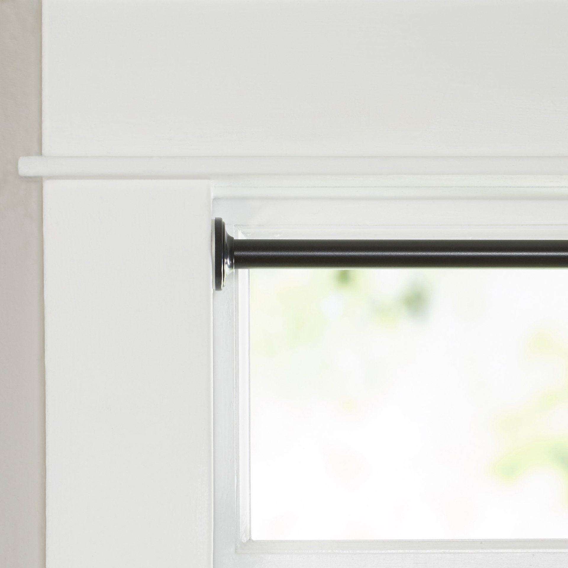 Wayfair Basics Blackout Tension Curtain Rod And Hardware Set