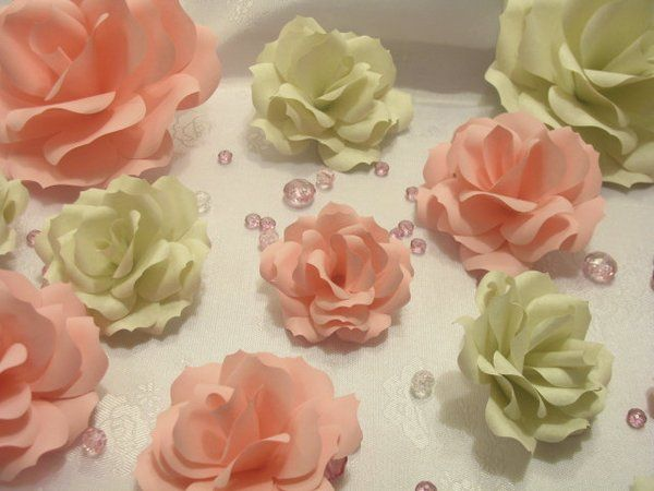 Paper Flowers in the delicate colors of Spring... Beautiful  #flowersforBella