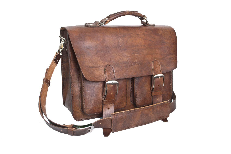 34a5beb3a11 Rustic Brown Leather Messenger Bag Men s Women s Briefcase Laptop Satchel  fits Macbook Pro 15