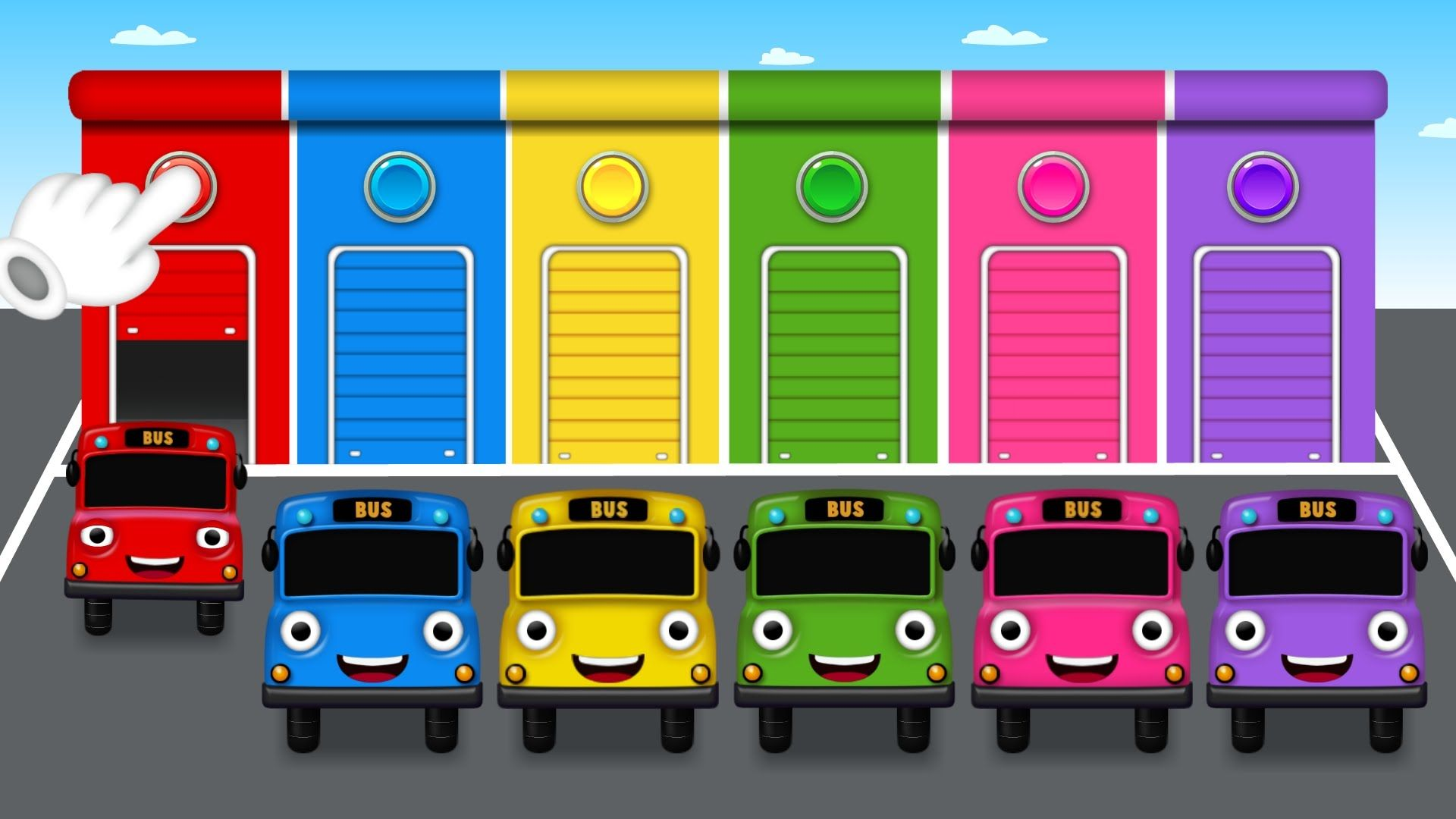 Colors for Children to Learn with Color Bus Toy - Colours for Kids ...