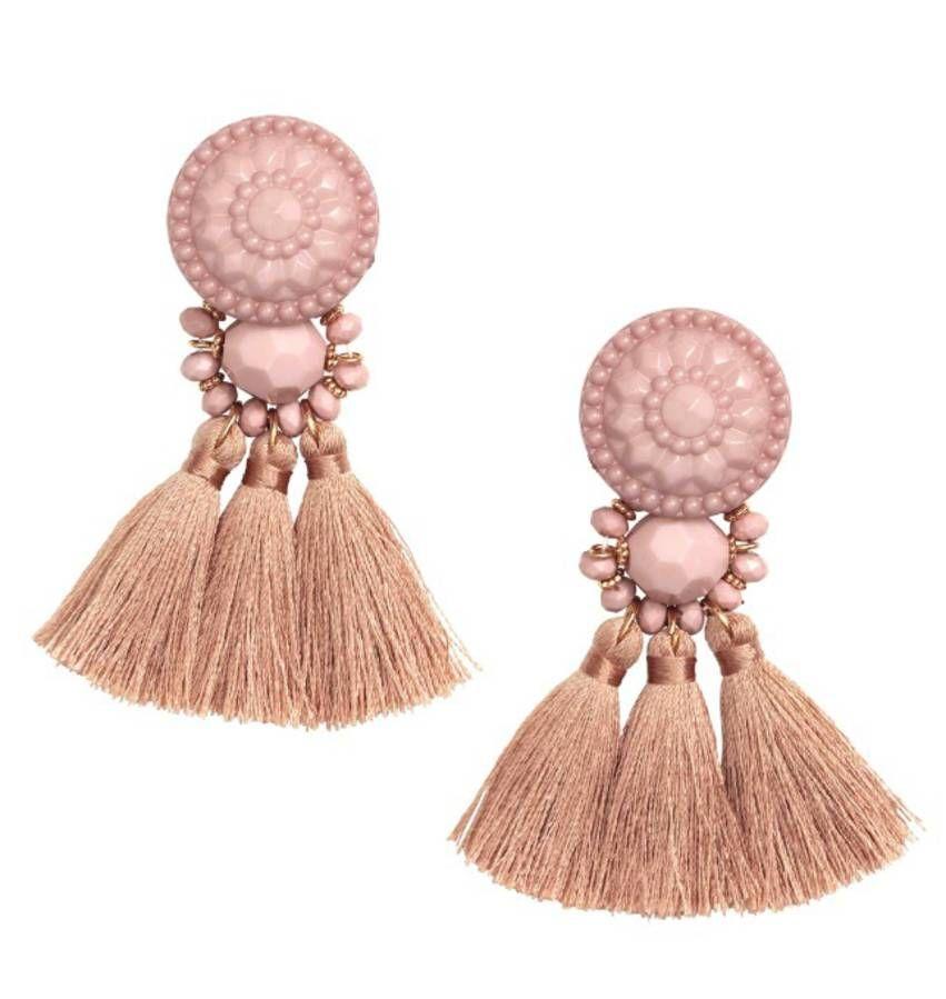 Lady Elegant Big fausses perles 9 cm Long Tassel Dangle Boucle d/'oreille tendance bijoux