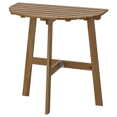 Tarno Table 2 Chairs Outdoor Black Acacia Gray Brown Stained