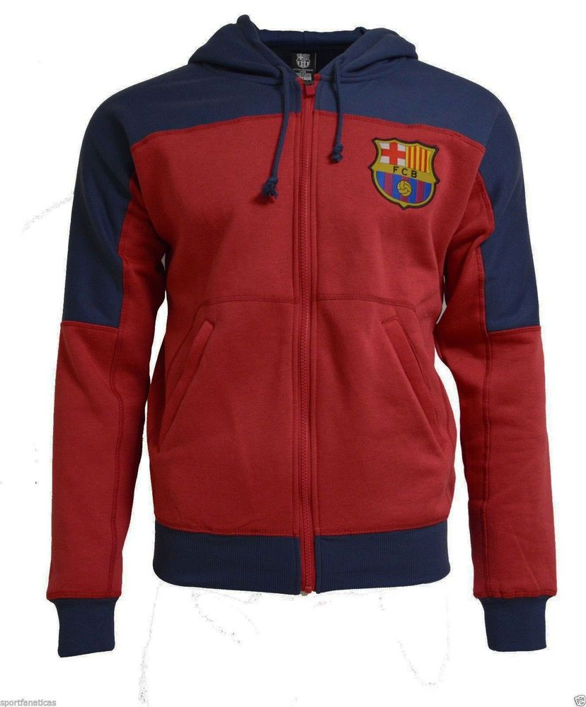 Fc Barcelona Youth Hoodie Boys Zip Front Fleece Sweatshirt Jacket Messi 10   RHINOX  FCBarcelona 00a8fbf5edc27