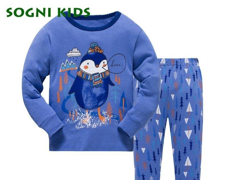 Discount This Month 2-7Y Kids Pijamas Baby Girls Boys Christmas Children  Pajamas Nightwear for Pajimas 2018 Clothes Toddler Long Sleeve Sleepwear ab606876d