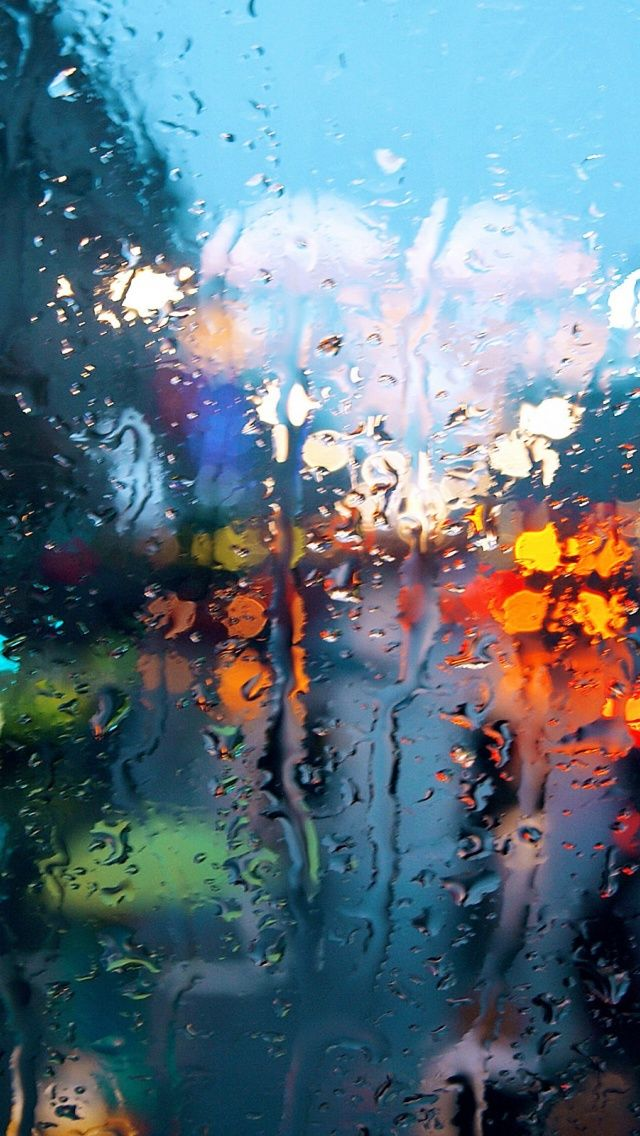 640x1136 Rain on Glass Iphone 5 wallpaper Rain