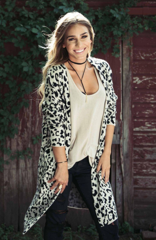a71ecba75bf8 Black & White Leopard Print Duster Cardigan | Sunita | White leopard ...