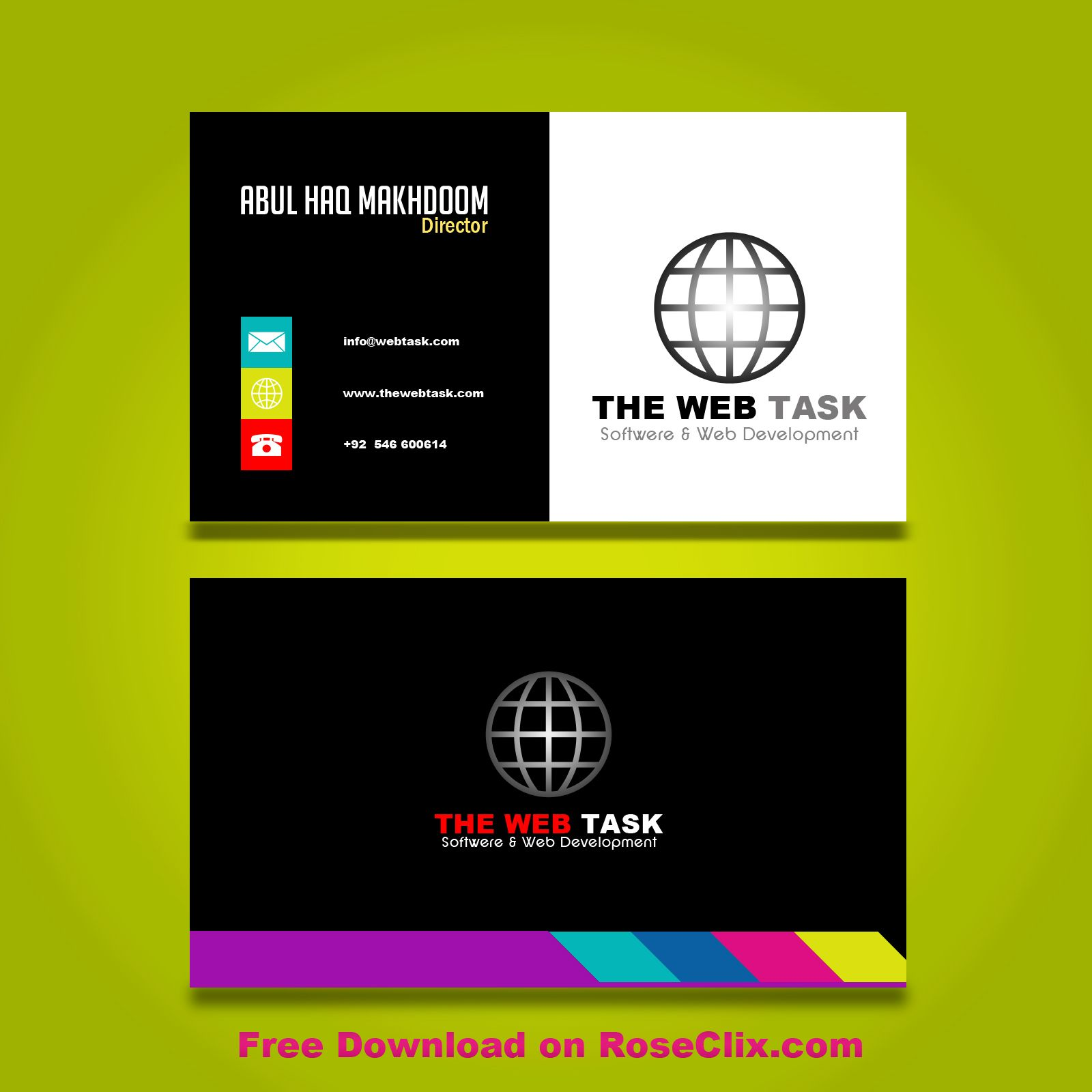 Colorful Business Card Templates Free Psd Colorful Business Card Free Business Card Templates Business Card Template