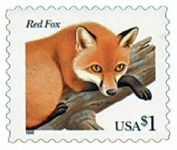 3036 1998 1 00 Red Fox Postage Stamp Art Stamp Postage Stamps