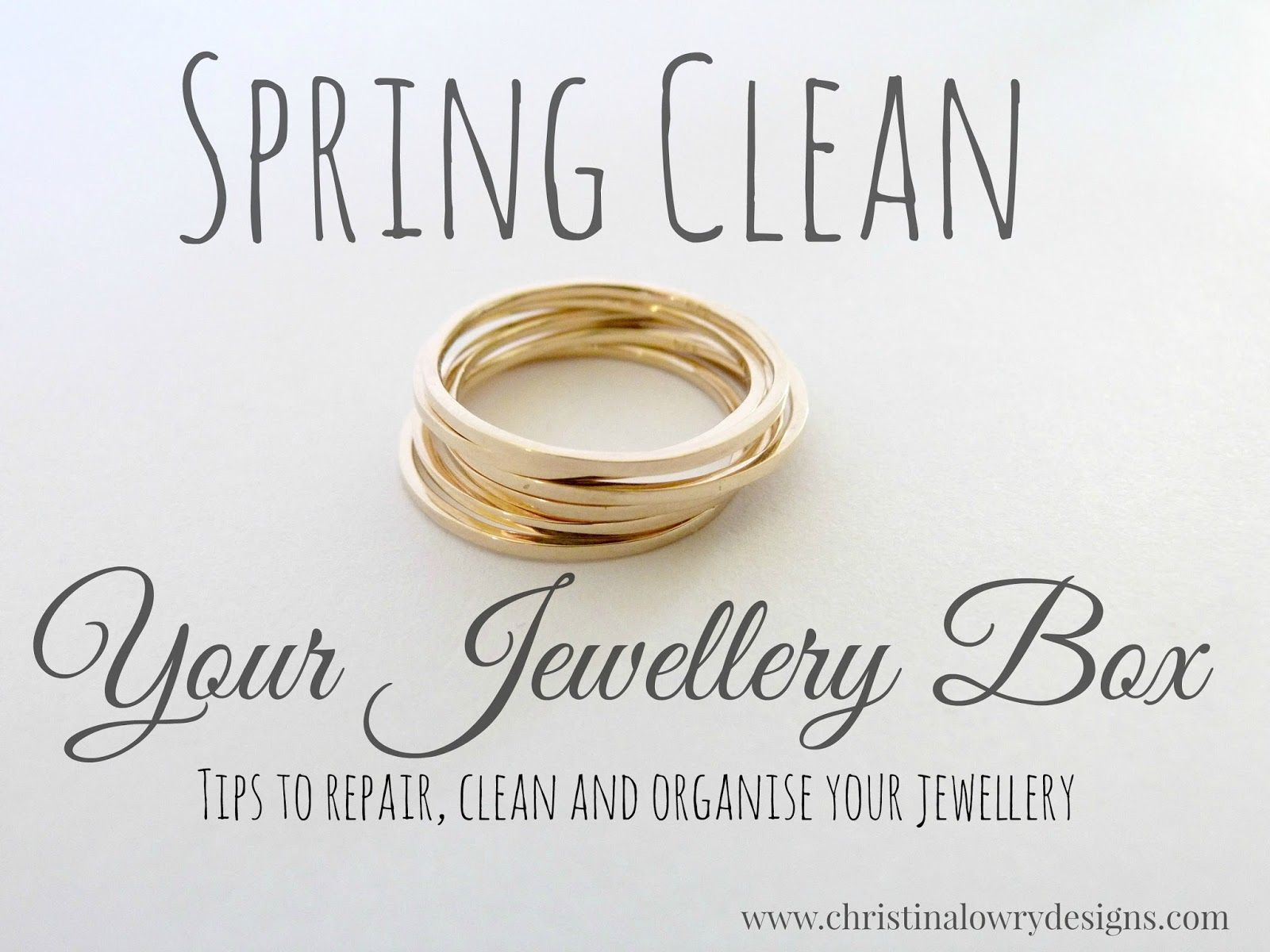 Spring Clean Your Jewellery Box Tips to repair clean and organise