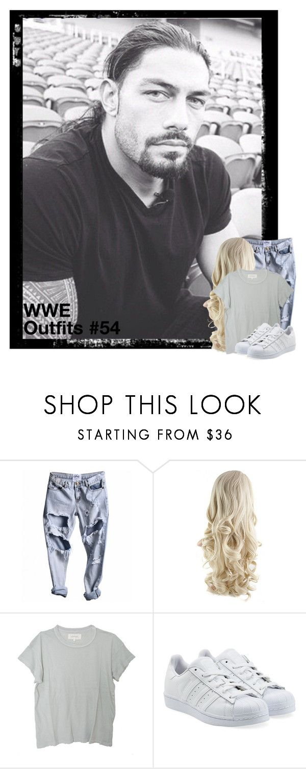 """""""WWE Outfits #54"""" by annacrystal ❤ liked on Polyvore featuring The Great, adidas Originals, WWE, outfits, SHIELD and RomanReigns"""