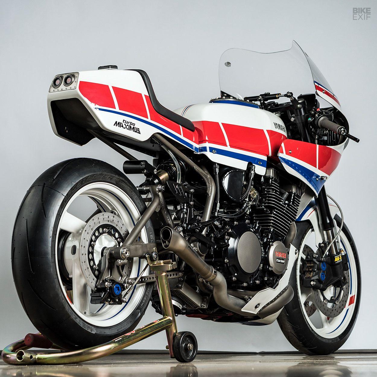 Turbo Maximus: Derek Kimes\' boosted Yamaha XJ750 Maxim   Motorcycles ...