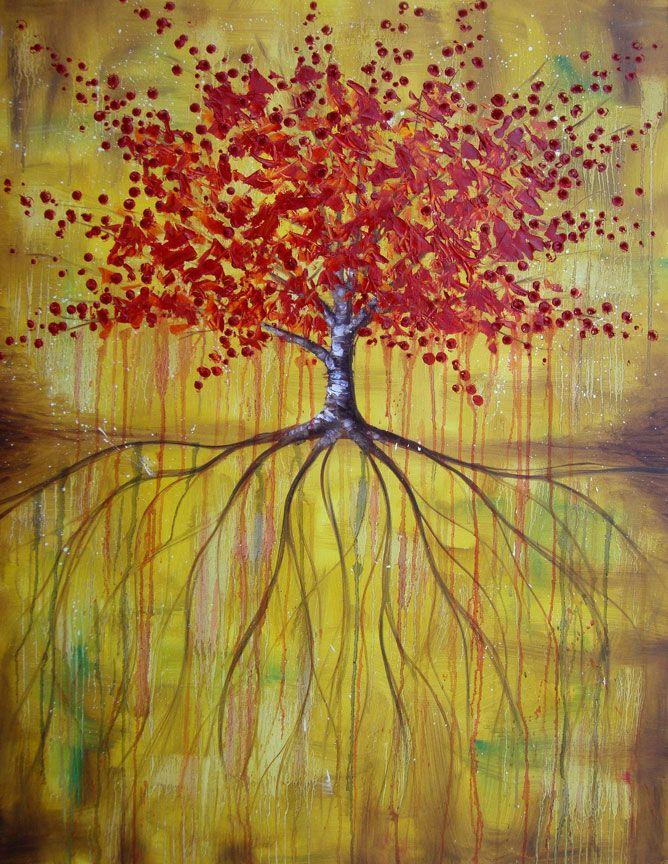 Tree Oil Painting Roots Love Tree Of Life Image Treasure Map