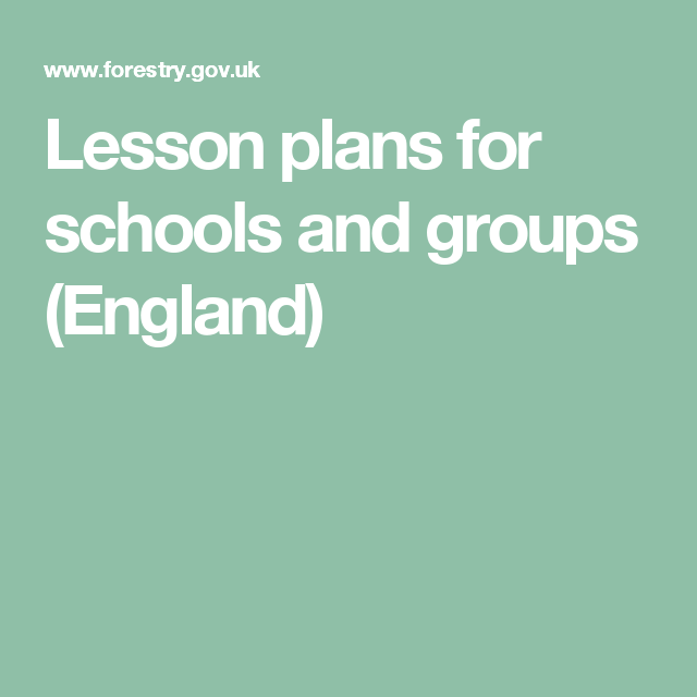 Lesson plans for schools and groups (England) Forestry Commission