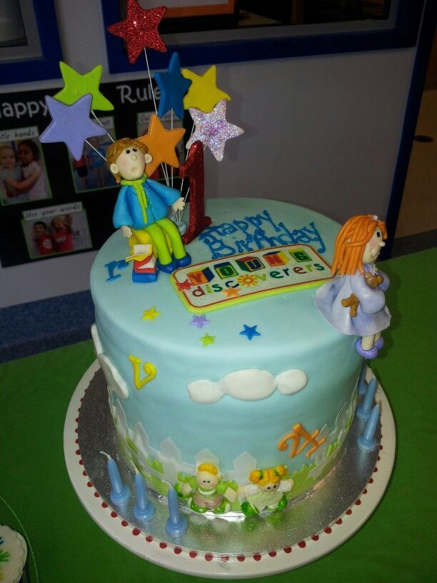 Childcare Centre 1st Birthday Cake 4 Layers Colours