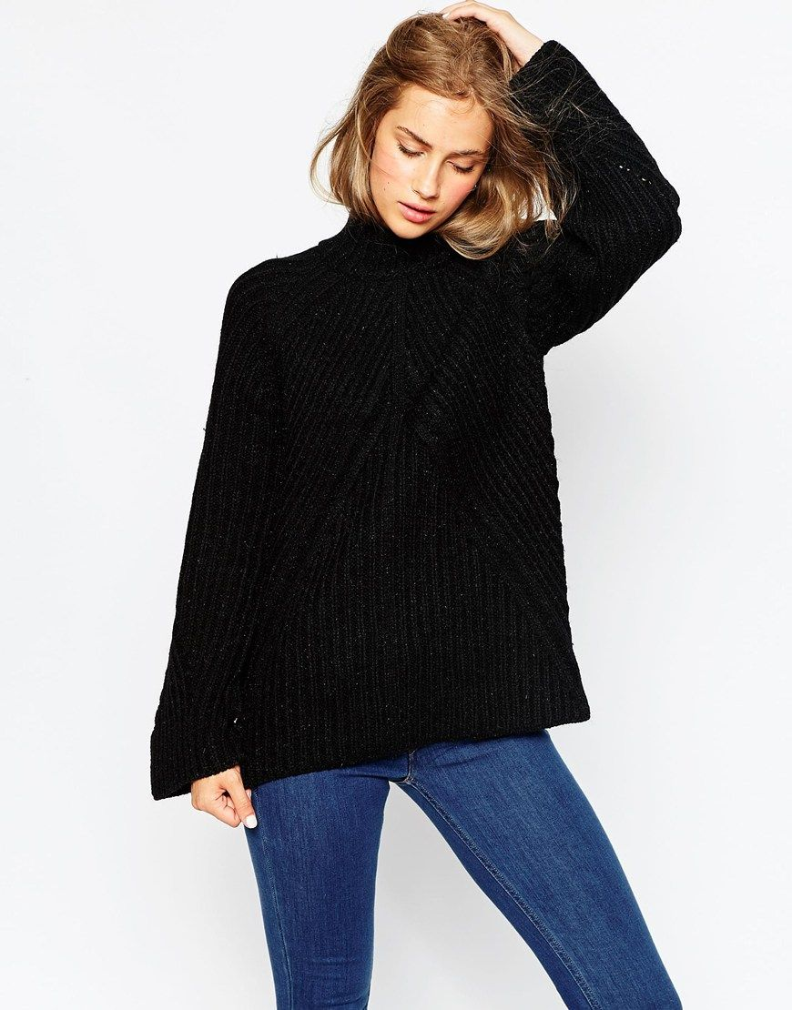 c622ef48915 Pin by Lauren Evans on My Style | Black roll neck jumper, Black high ...