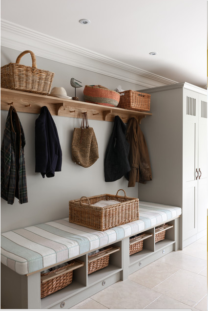 Ideas para ordenar el recibidor | MUDROOM | Pinterest | Bancos de ...