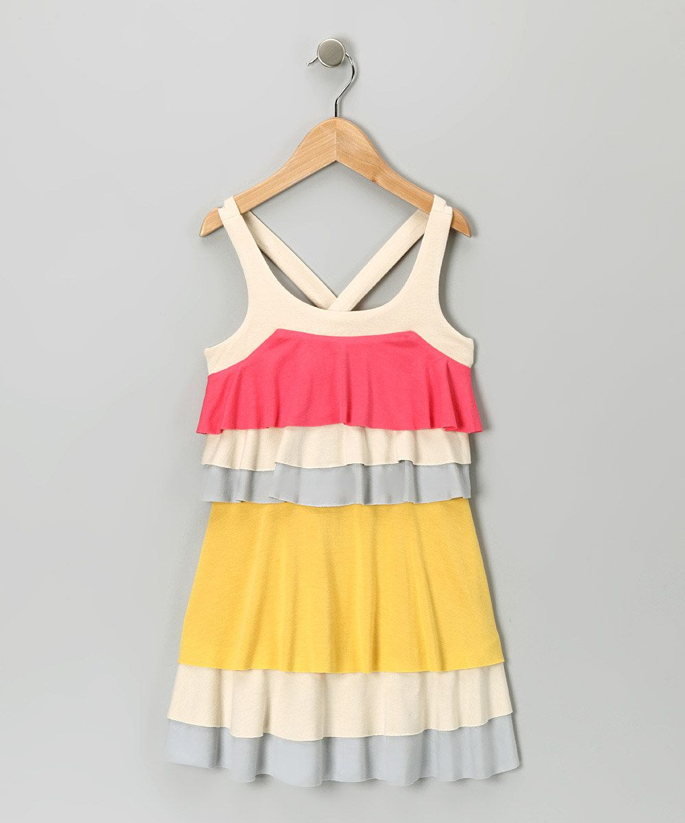 Yellow Colorblock Dress by Truly Me