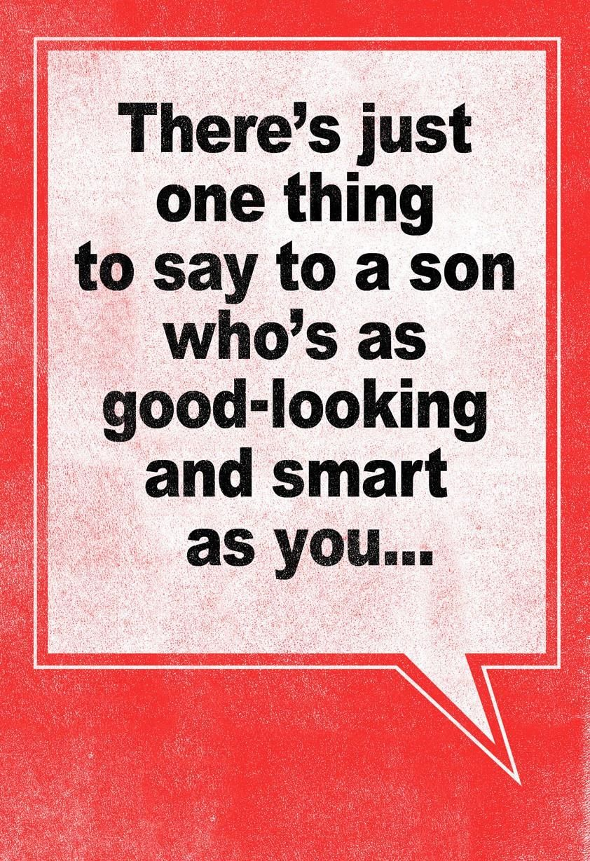 Now you can rib your son with this cheeky valentines card