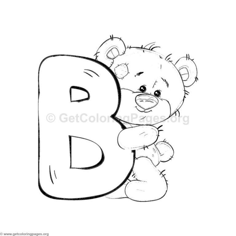 33+ B is for bear coloring page HD