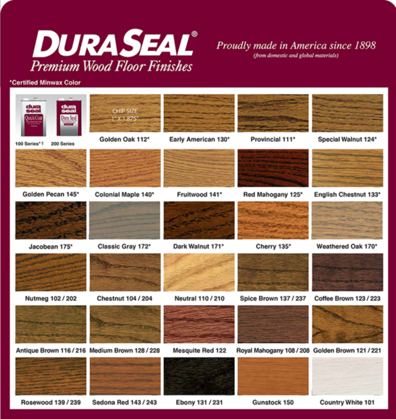 Dura Seal Color Chart In 2020 Wood Floor Stain Colors Floor Stain Colors Wood Stain Colors