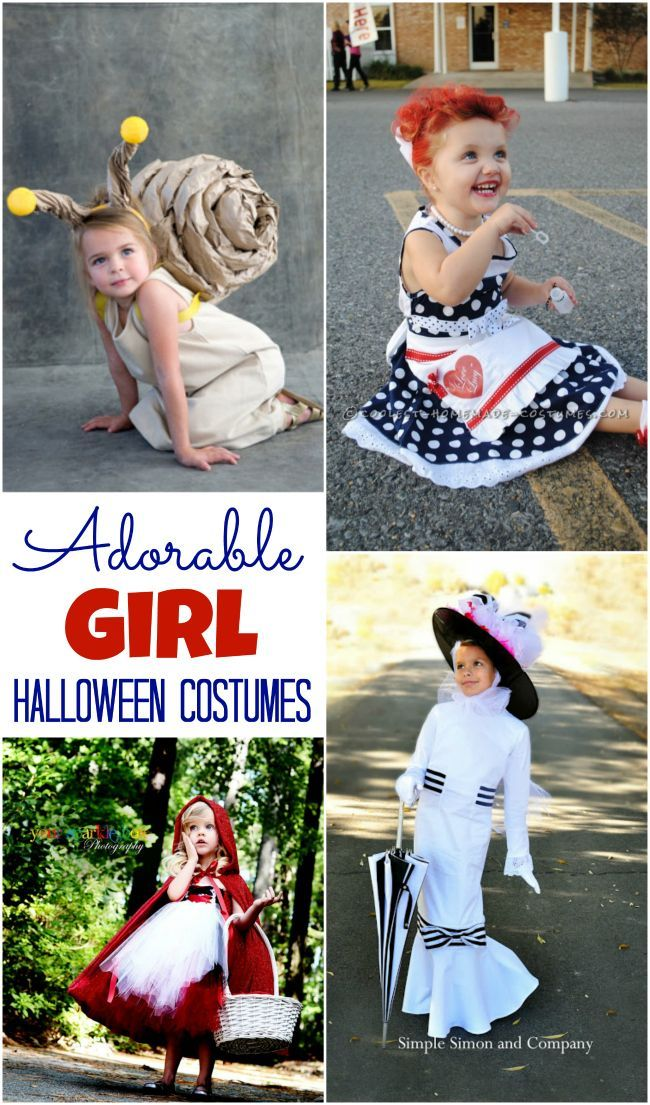 Halloween Costume Ideas for Every Girl My FAVORITE holiday - unique toddler halloween costume ideas