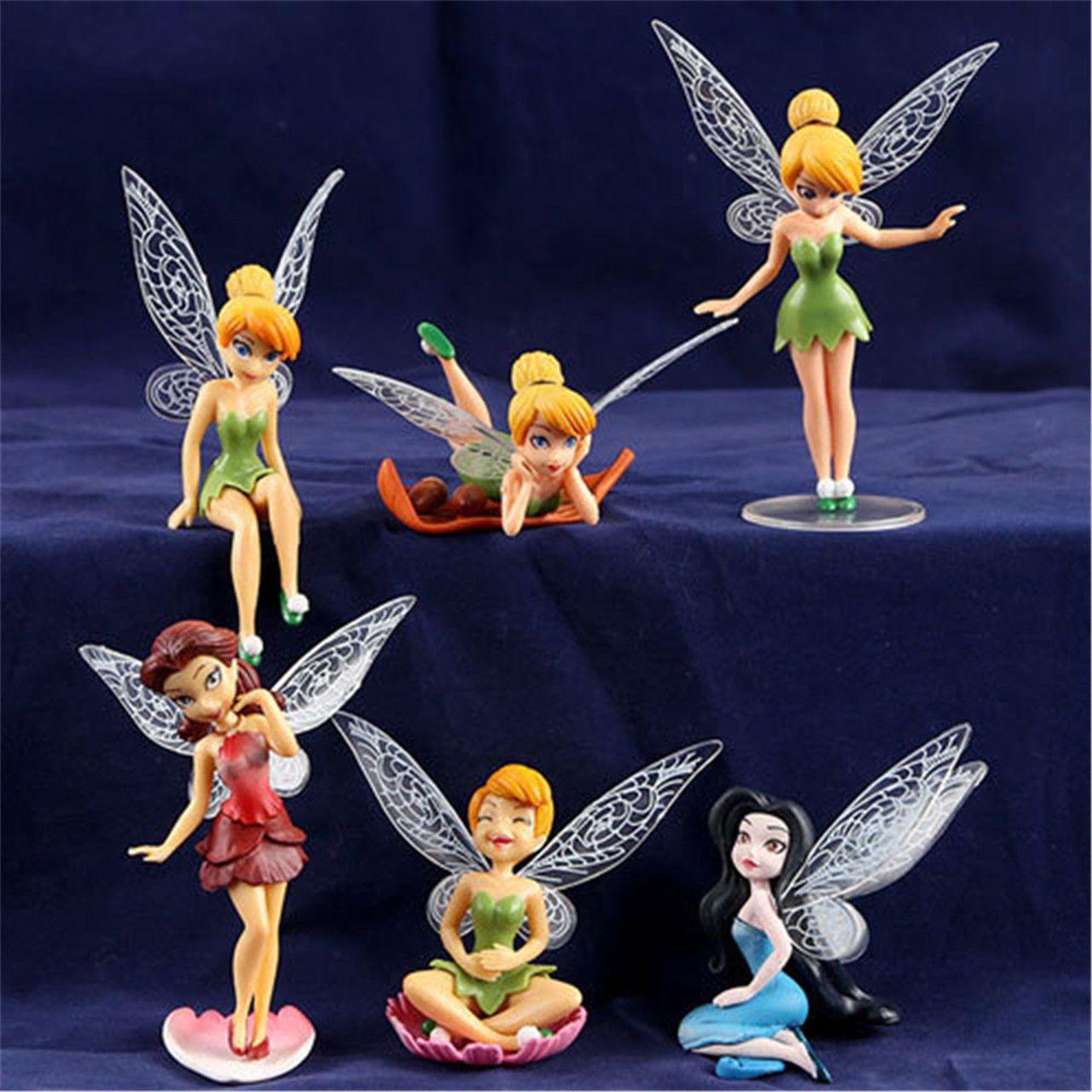 4 61 Gbp 6x Tinkerbell Fairy Birthday