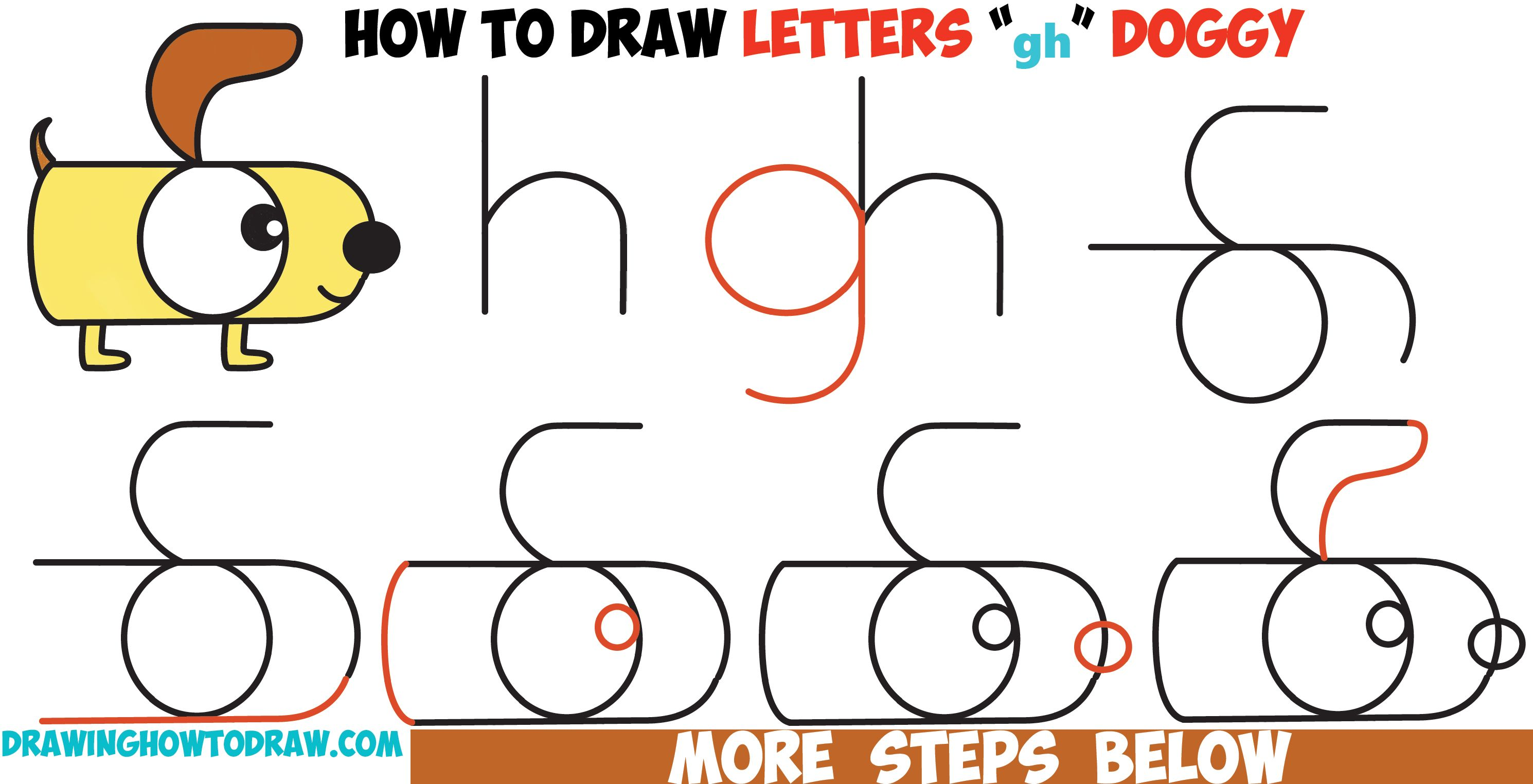 Uncategorized Dogs To Draw Step By Step how to draw a cartoon dog from letters g and h easy step by drawing tutorial for kids t