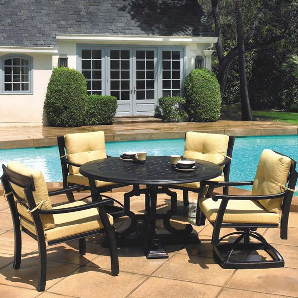 Corona Dining By Gensun Simply The Best In Outdoor Cast Aluminum Patio Furniture
