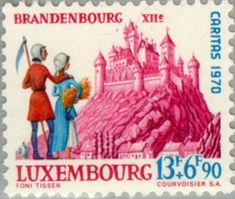 Sello: Castle Brandenbourg (Luxemburgo) (Castles) Mi:LU 819,Yt:LU 769