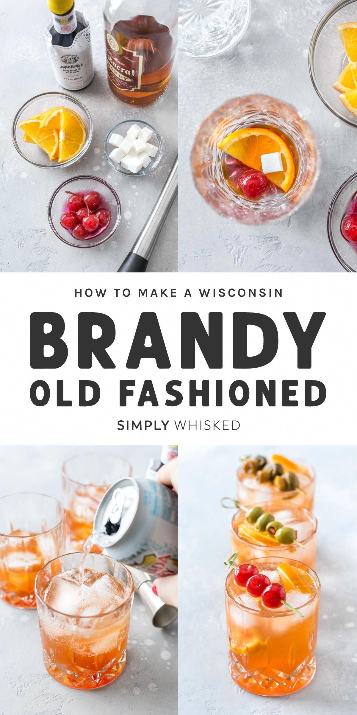 Skip the supper club and make this classic cocktail at home. This Wisconsin brandy old fashioned recipe can be made sweet or sour. Swap whiskey if you want, just don't forget the cherries. #oldfashioned #brandy #partycocktailrecipes