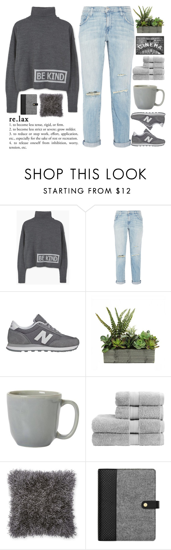 """Curiosity is not a vice. Much worse when the person feels indifference"" by holly-k15 ❤ liked on Polyvore featuring MANGO, Current/Elliott, New Balance, Juliska, Christy and Pottery Barn"