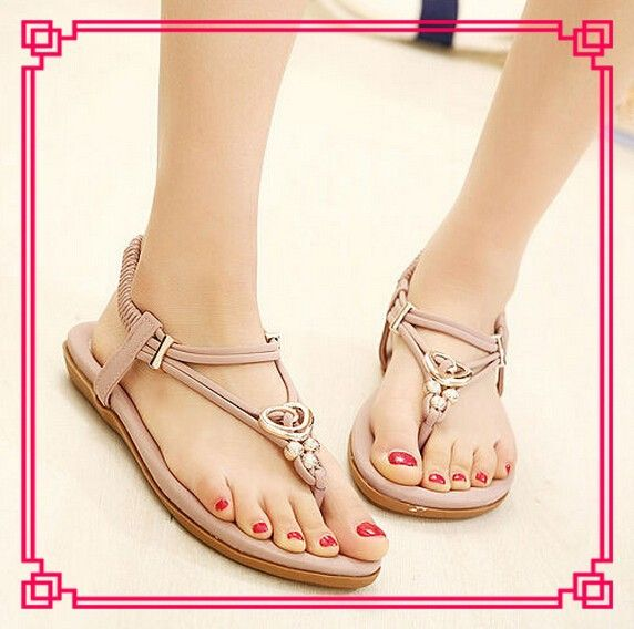 3e3047c64 Latest girls pink cheap flats sandal 2014 new style summer womens fancy  flat sandals stylish womens
