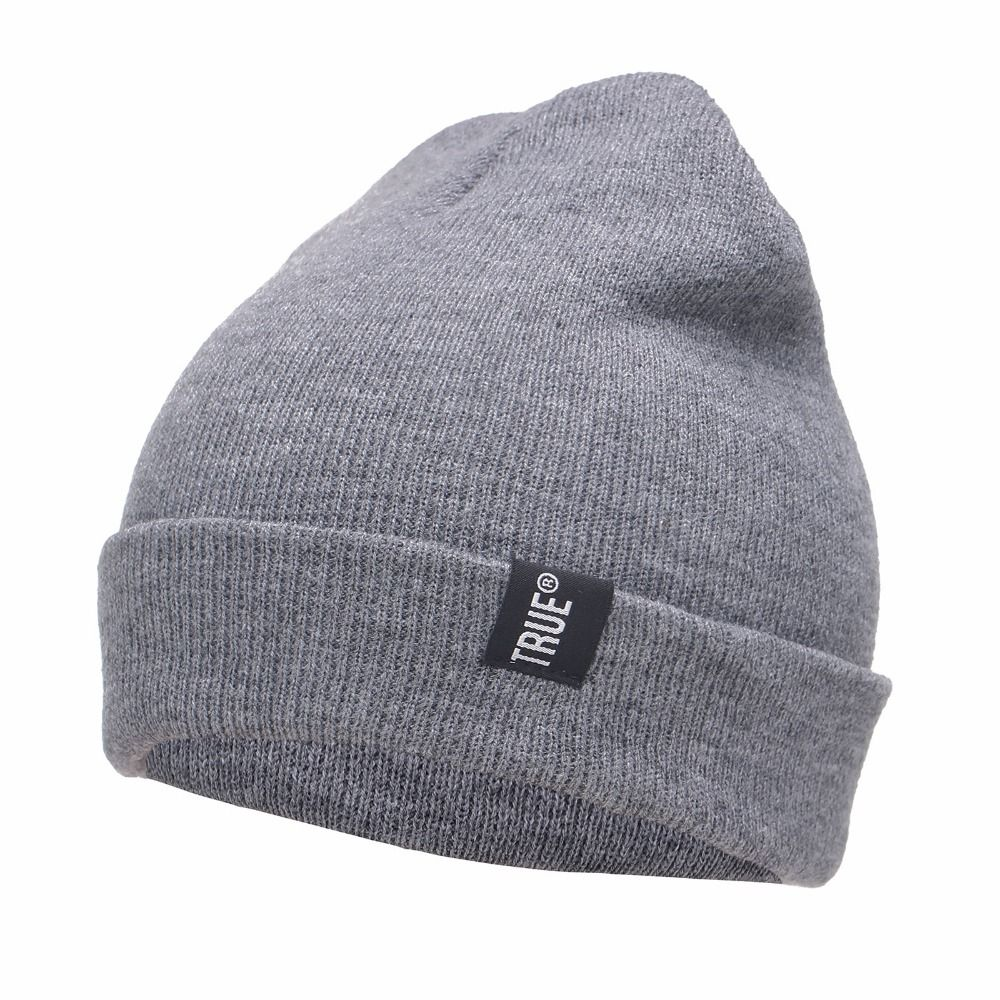 Letter True Casual Beanies for Men Women Fashion Knitted Winter Hat Solid  Color Hip-hop Skullies Bonnet Unisex Cap Gorro 07b601161214