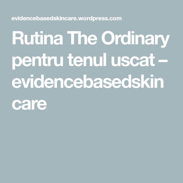 Rutina the ordinary ten uscat
