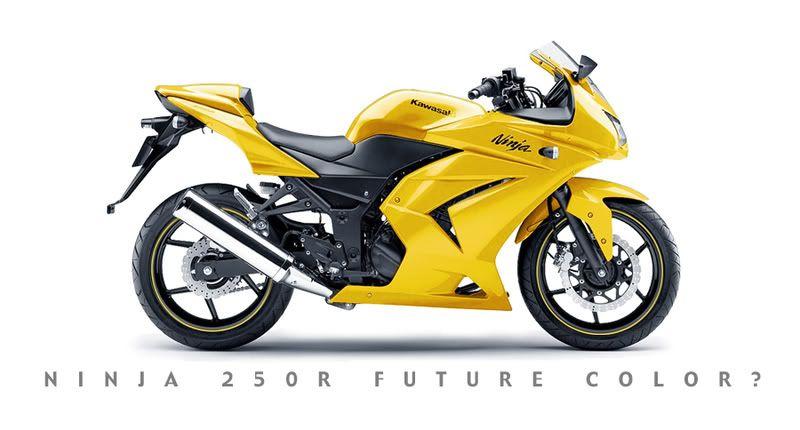 Kawasaki Ninja 250r Yellow 90 Motorsykler Kawasaki Ninja 250r