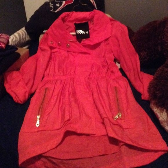 Pink Fillmore jacket NWT Hot pink with gold zipper small Fillmore Jackets & Coats