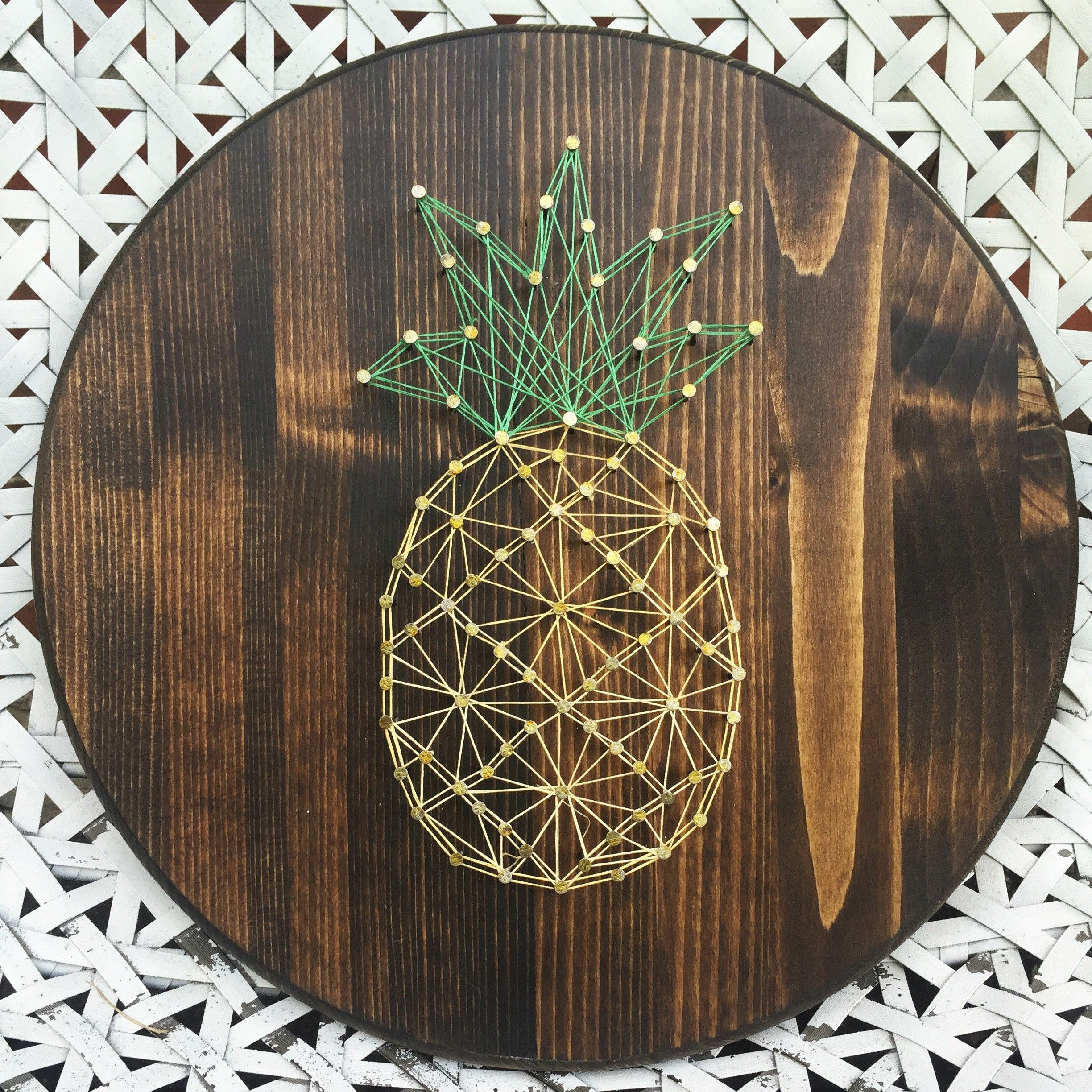 pineapple string art diy idea inspiration pinterest. Black Bedroom Furniture Sets. Home Design Ideas