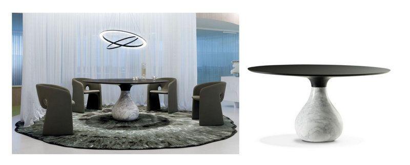 Tentation Design Table De Repas Aqua De Roche Bobois Table Repas Mobilier De Salon Table De Repas Ronde
