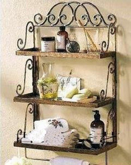 Decorative Metal Wall Art Bathroom Wrought Iron Wall Rack Wrought - Wrought iron bathroom wall shelves