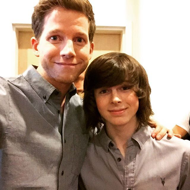 @chandlerriggs5 Quite possibly the high point of my day. A great kid with a ton of talent and no ego. #TheWalkingDead