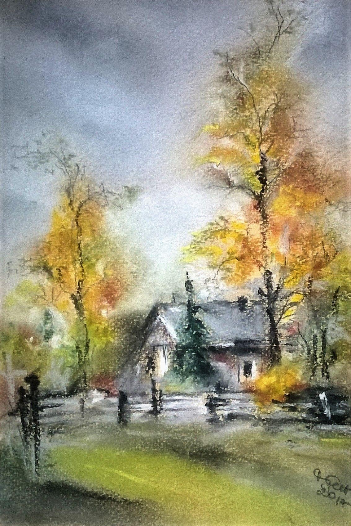 Colours Of Autumn Pastel Resim Resimler Manzara Resimleri