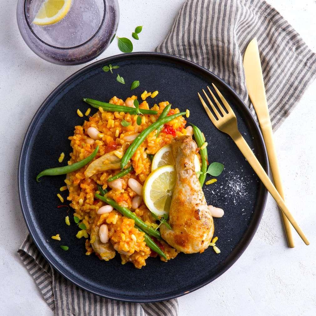 paella valenciana rezept portionen paella und