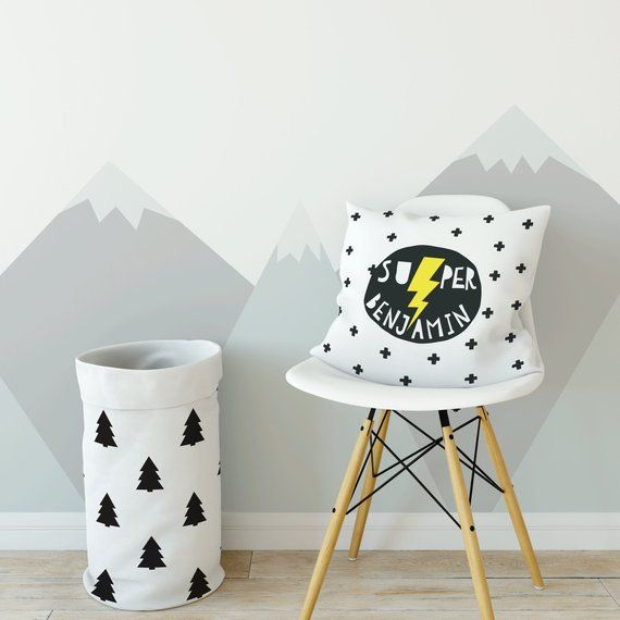 Personalized custom name pillow, Boy nursery decor, Personalized pillowcase, Baby shower decor, Superhero nursery #superherogifts