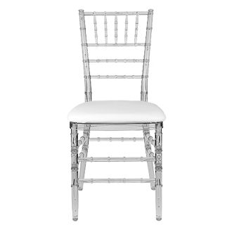 Crystal Clear Chiavari Chair Looking Like I May Have To Settle For This As Opposed To The Ghost Chair Chiavari Chairs Chiavari Chair