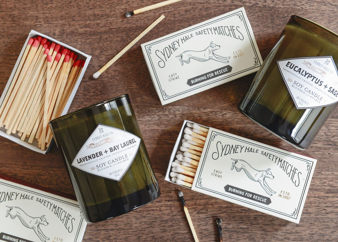 Sydney Hale Co. candles, promoting dog rescue | via Yellow Brick Home