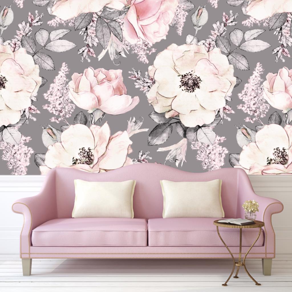 Dusty Rose Wallpaper (SelfAdhesive) Rose wallpaper