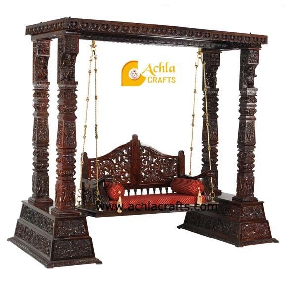 And Exporters Of Wooden Carved SwingJhulaIts Finely By Team Highly Skilled Dedicated CraftsmenOur Workforce Have Created Trendy