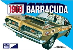 Mpc 1969 Plymouth Barracuda 1 25 Scale Model Kit Model Cars Kits Plymouth Barracuda Plastic Model Kits Cars