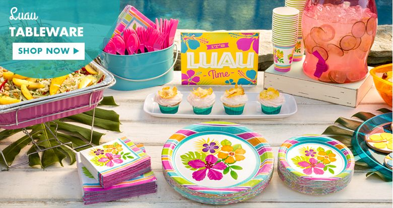 Hawaiian Themed Decorations Ideas Part - 33: Luau Party Supplies - Hawaiian Luau Decorations - Party City