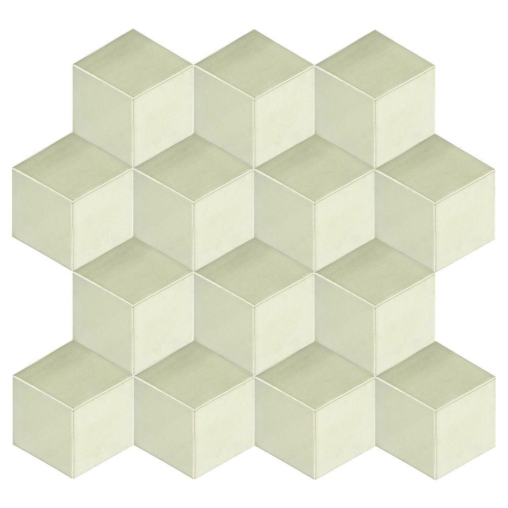 Cubics Azul Natural 6 X 24 3d Porcelain Wall Panel 5 49 Per Square Foot Stone Veneer Panels Stacked Stone Panels Stone Panels